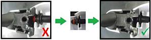prawidłowe czyszczenie części pojemnika na mleko — montaż końcowy