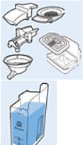 Limpieza de las piezas de la cafetera SENSEO Quadrante