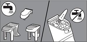 Limpieza del cortapelos con un cepillo