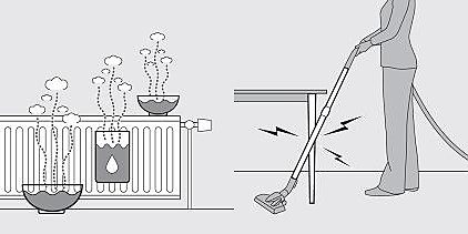 Discharging the appliance
