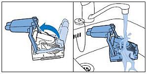Limpieza del depósito de agua sucia