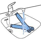Limpieza de los cepillos de la mopa