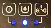 LED azul del AquaTrio Pro