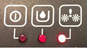 LED rojo del AquaTrio Pro