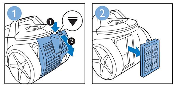 Philips vacuum cleaner exhaust filter
