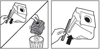 Cómo desechar las bolsas del polvo