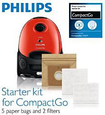 Starter kit for CompactGo vacuum cleaner