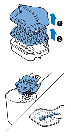 Suodattimen puhdistaminen