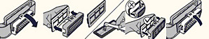Instructies voor het schoonmaken van het gaasfilter