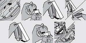 Anweisungen zur Reinigung des Staubbehälters