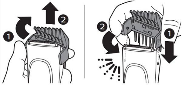 Peines-guía del cortapelos para niños Philips