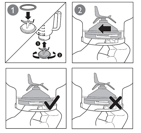 Come faccio a montare il gruppo lame del frullatore nel ...