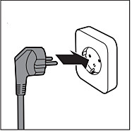 Plugging Philips Juicer into the wall socket