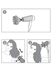Using the volume diffuser with your Philips Hair Dryer