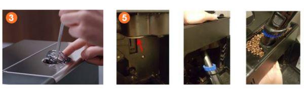 Beseitigen der Verstopfung des Saeco Espresso-Kaffeetrichters