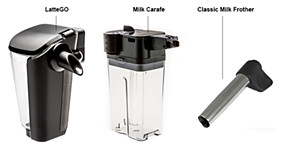 Philips espresso machines milk system
