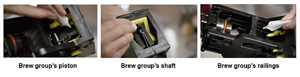 Lubricación del sistema de preparación de una cafetera espresso de Philips