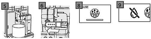 üres víztartályt jelző szimbólum