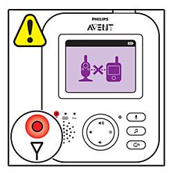 A conexão da babá eletrônica Philips Avent foi perdida