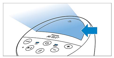 Nachtlichttaste am Philips Avent DECT-Babyphone