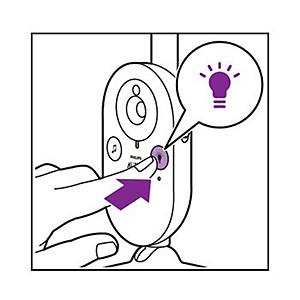 Philips Avent Video baby monitor nightlight button