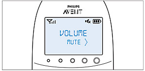 Instructions to mute the Philips Avent DECT baby monitor