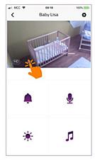 Instructies om de Philips Avent slimme babyfoon te dempen