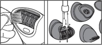 De Philips-epilator schoonmaken