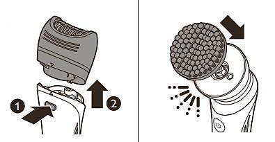 Cepillo de exfoliación corporal de la depiladora Philips
