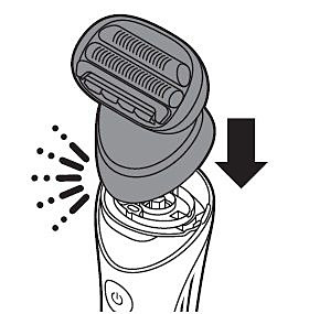 Attaching the shaving head of Philips Lady Shaver