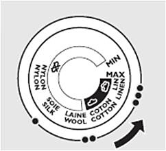 Steam position and no steam position - Philips steam iron