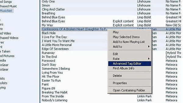 Advanced Tag Editor option