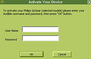 Activate your GoGear player