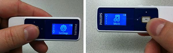Philips player's Rotate screen feature