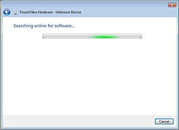 Locate and install driver software