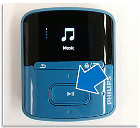 Play button on Philips player