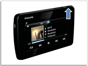 Power/Lock button on Philips player