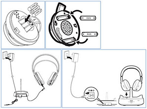 Inserting batteries in your Philips headphones