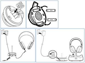 Inserting batteries in your Philips headphones