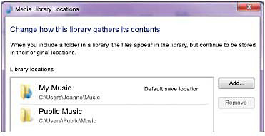 Music Library Locations