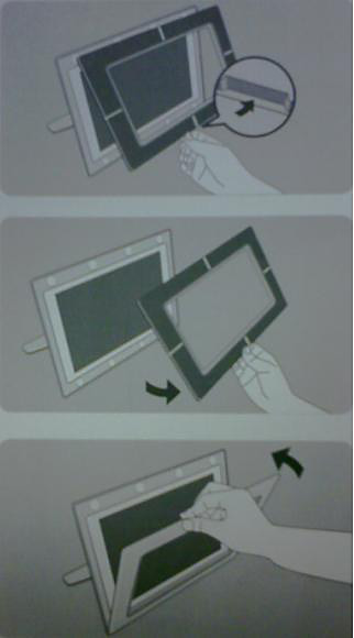 Removing the front frame of Philips Photoframe