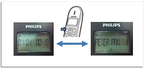 Philips DECT phone's display mode