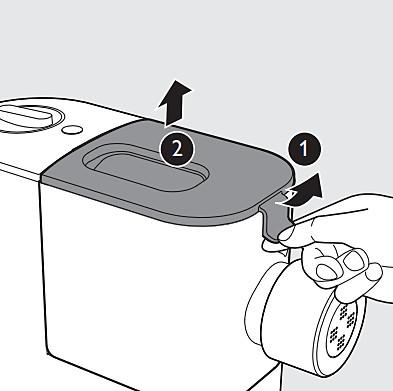 Schritt1 und2: Reinigen der Philips Nudelmaschine