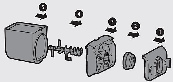 Schritt5: Reinigen der Philips Nudelmaschine