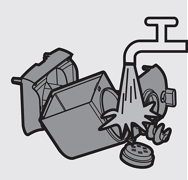 Reinigen der Formaufsätze– Philips Nudelmaschine