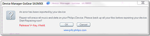 GoGear Philips Device manager