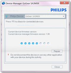 Philips SA3385/37 MP4 Player Treiber Windows 10