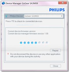 how to repair philips mp3 player with device manager philips rh usa philips com Philips GoGear Software GoGear Accessories