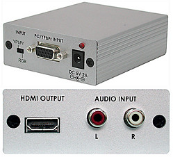 Can I use a VGA-HDMI cable to connect my PC (VGA OUT) to my