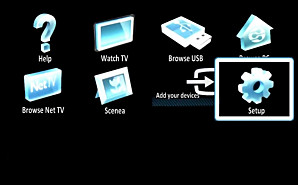 Press Home On Your Remote Control And Select Setup